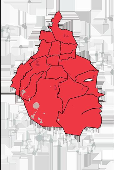 mapa ilustración de la CMDX
